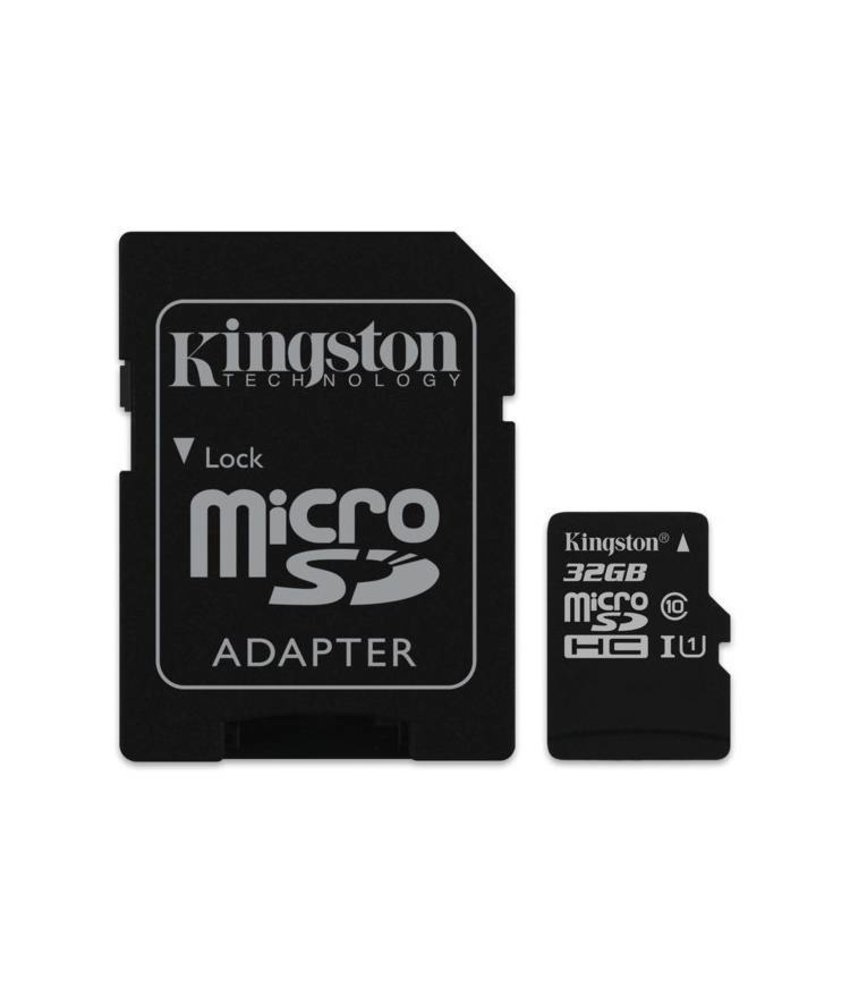 Kingston 32GB microSDHC 1 geheugenkaart klasse 10 + adapter