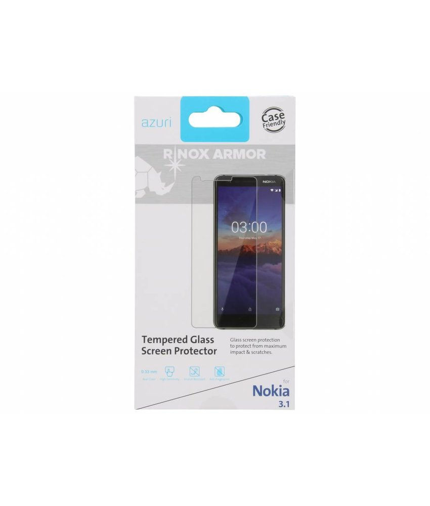 Azuri Tempered Glass Screenprotector Nokia 3.1