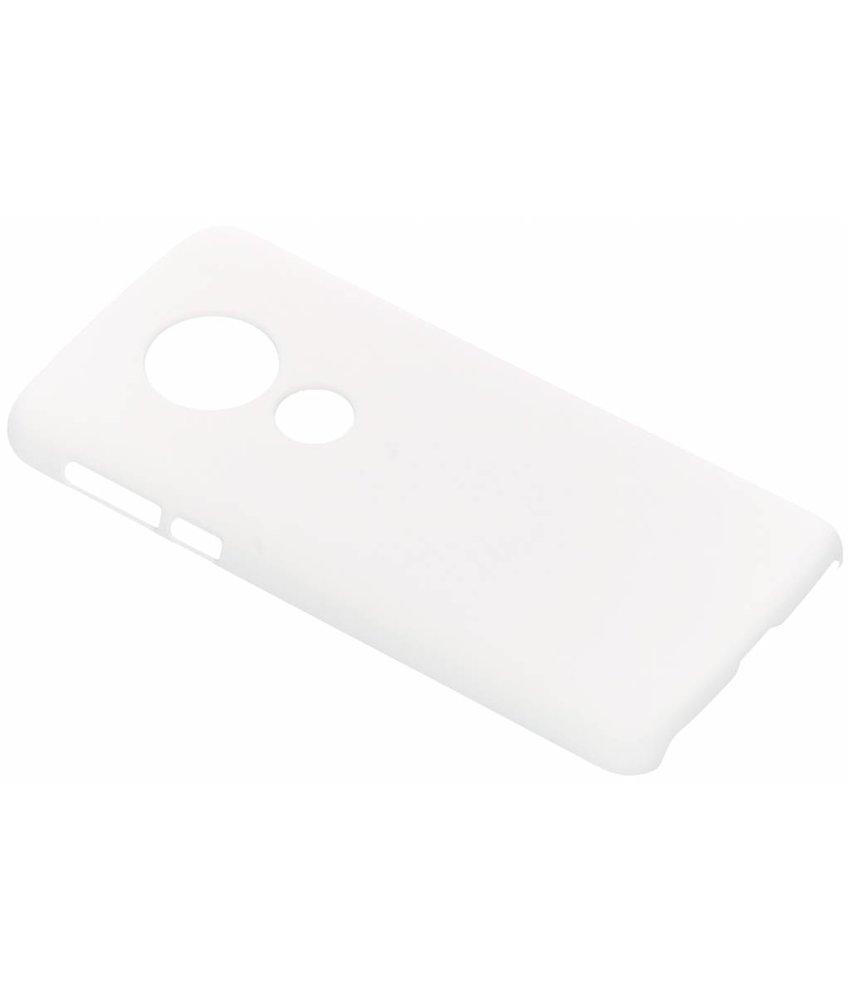 Wit effen hardcase hoesje Motorola Moto E5 / G6 Play