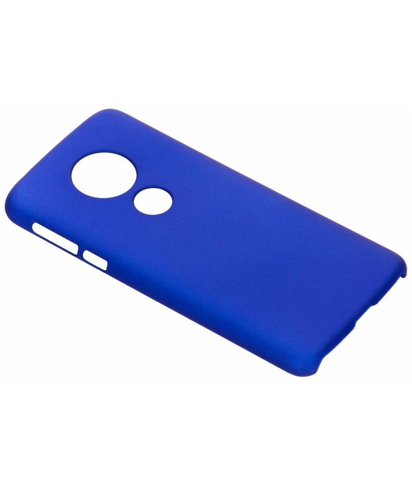Blauw effen hardcase hoesje Motorola Moto E5 / G6 Play