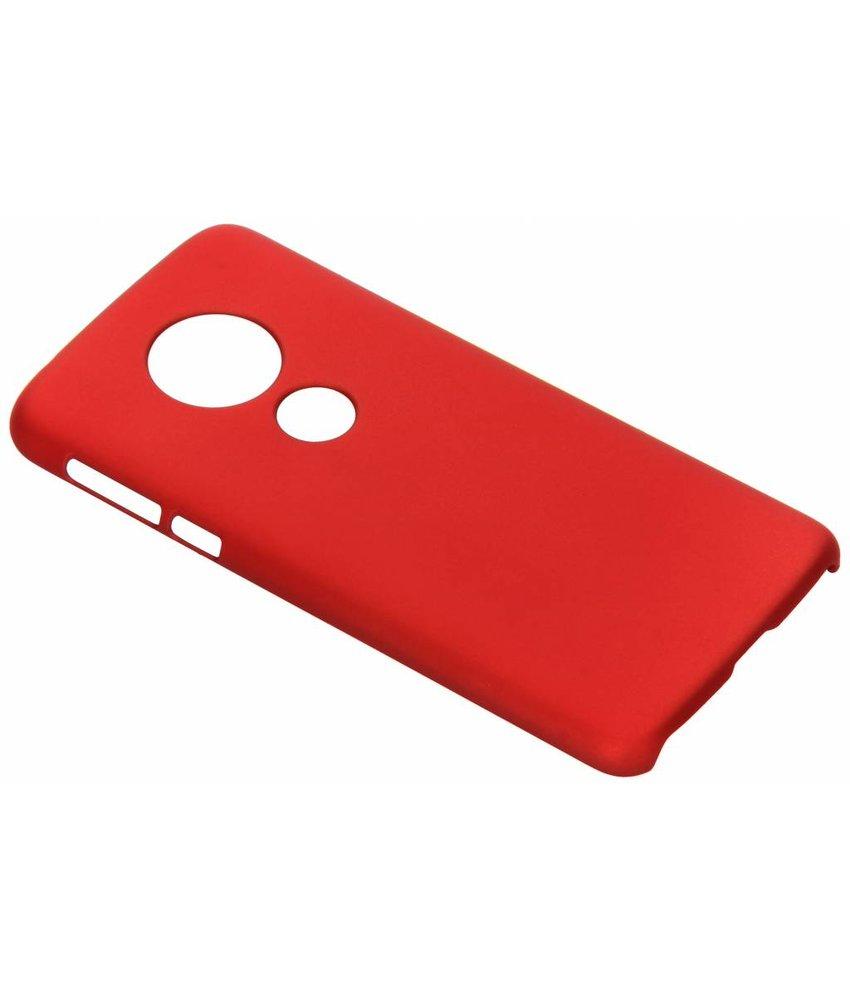 Rood effen hardcase hoesje Motorola Moto E5 / G6 Play