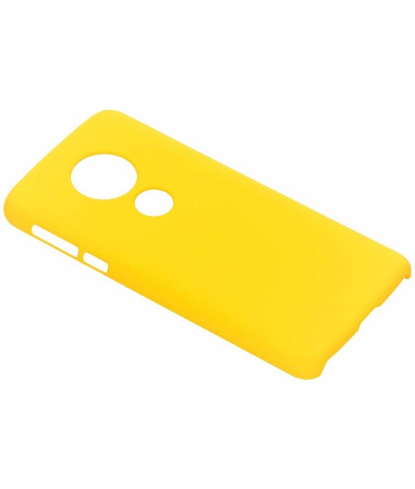 Geel effen hardcase hoesje Motorola Moto E5 / G6 Play