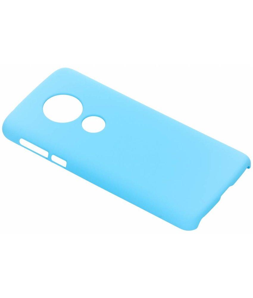 Turquoise effen hardcase hoesje Motorola Moto E5 / G6 Play