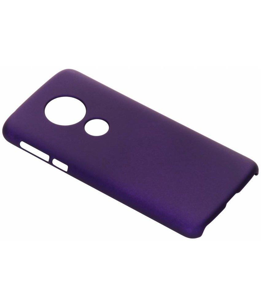 Paars effen hardcase hoesje Motorola Moto E5 / G6 Play