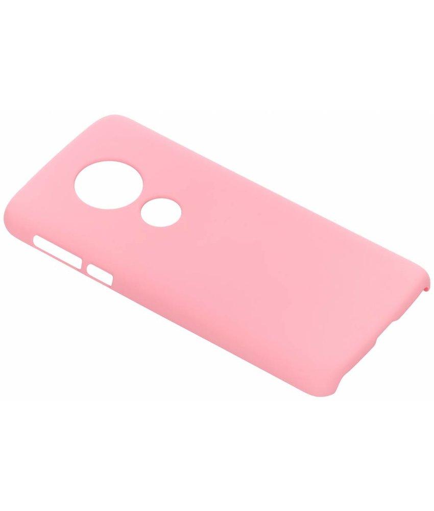 Roze effen hardcase hoesje Motorola Moto E5 / G6 Play