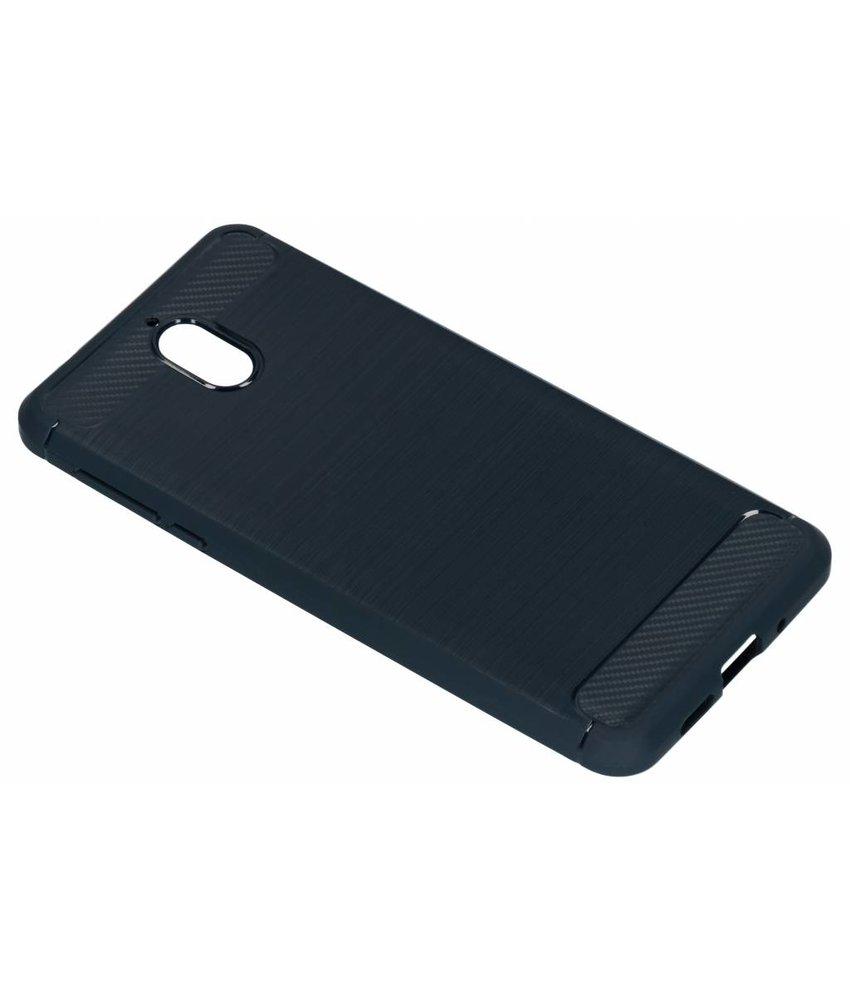 Donkerblauw brushed TPU case Nokia 3 (2018)