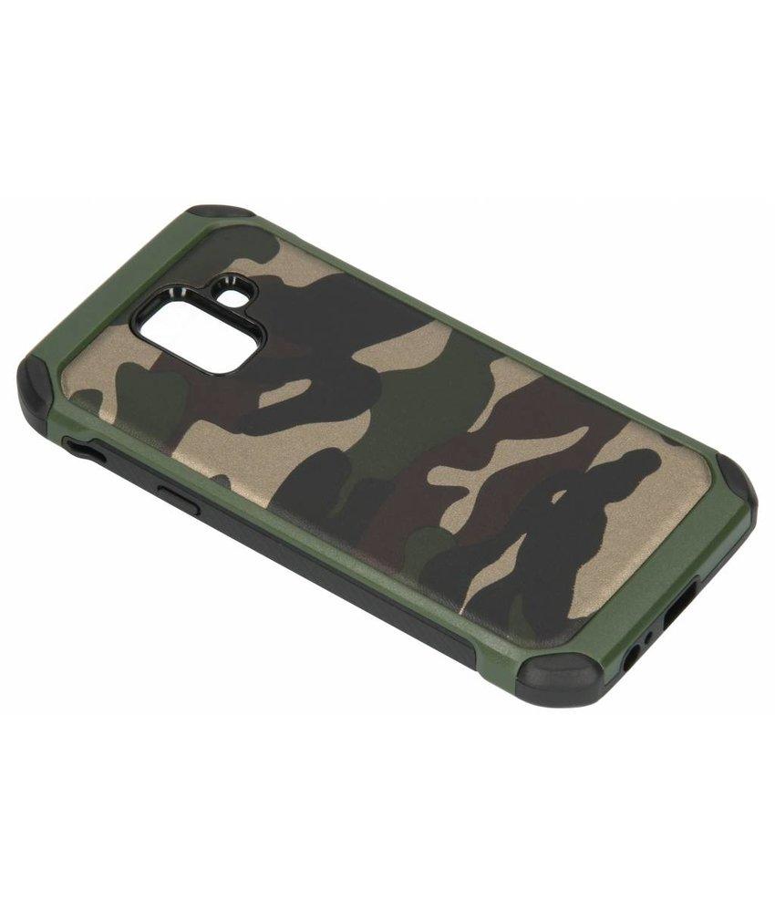 Groen army defender hardcase hoesje Samsung Galaxy A6 (2018)