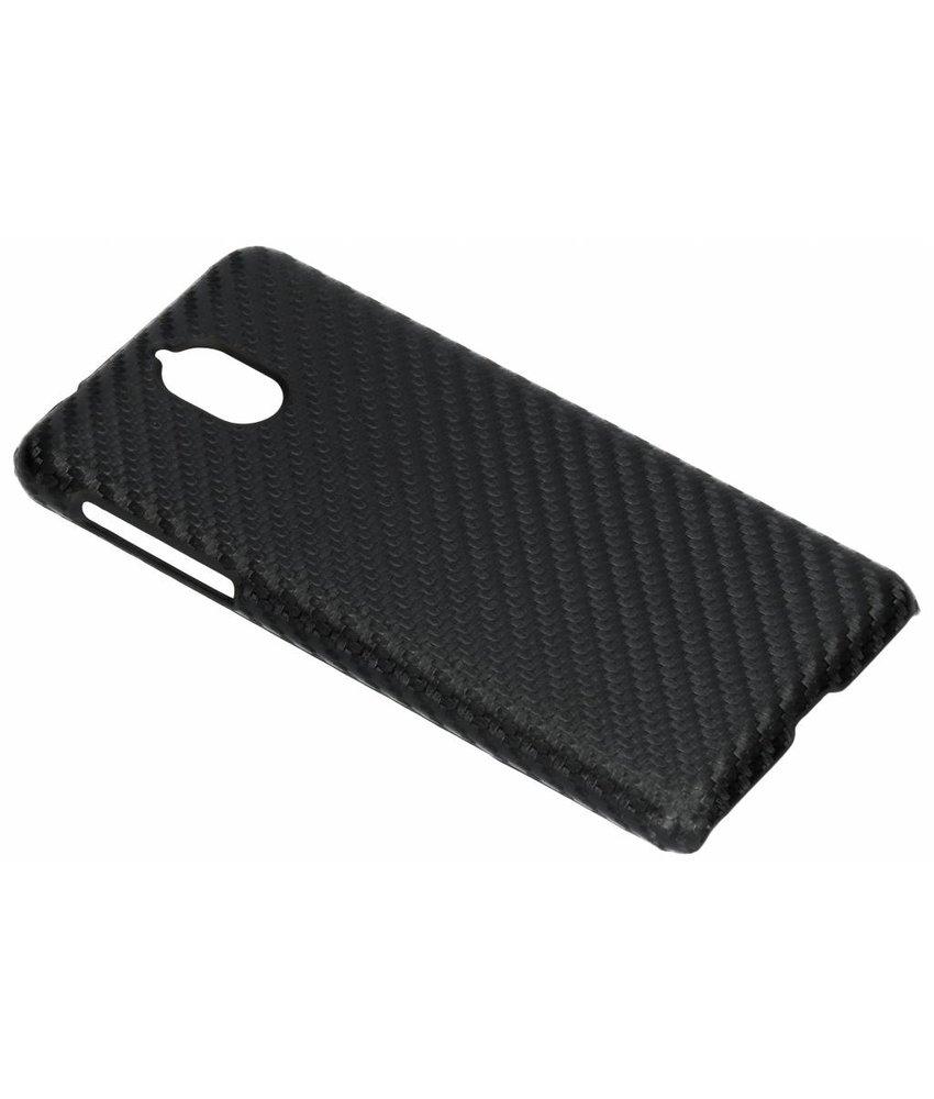 Zwart carbon look hardcase hoesje Nokia 3.1