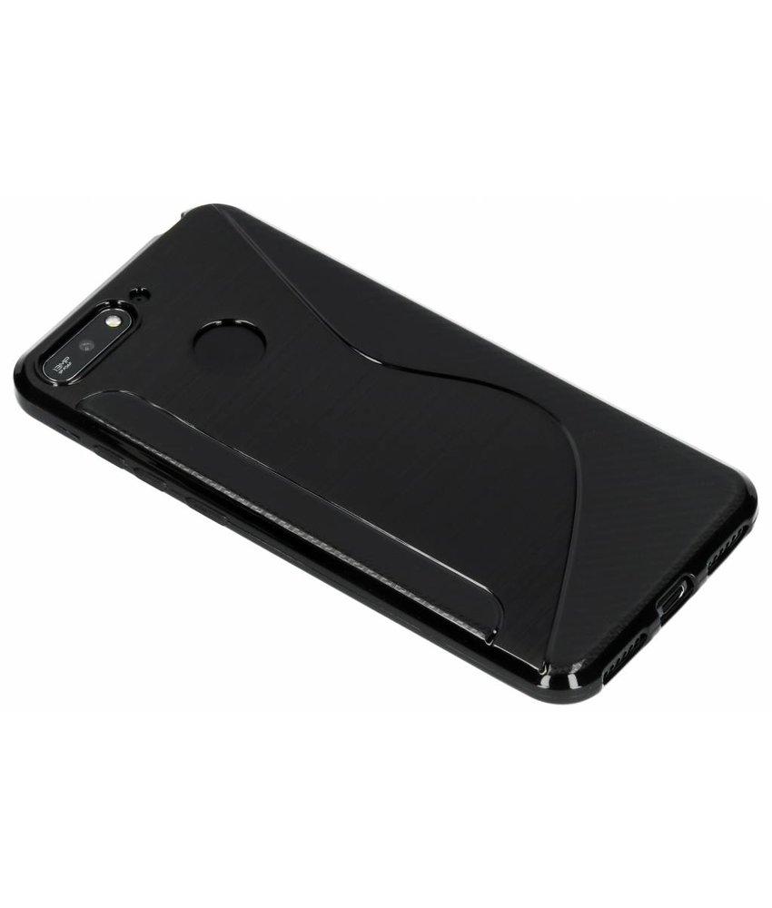 Zwart S-line TPU hoesje Huawei Y6 (2018)