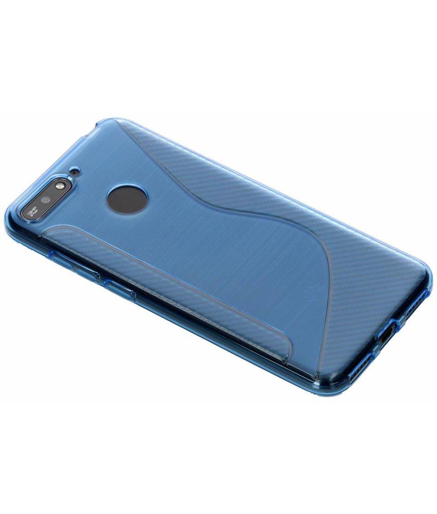 Blauw S-line TPU hoesje Huawei Y6 (2018)