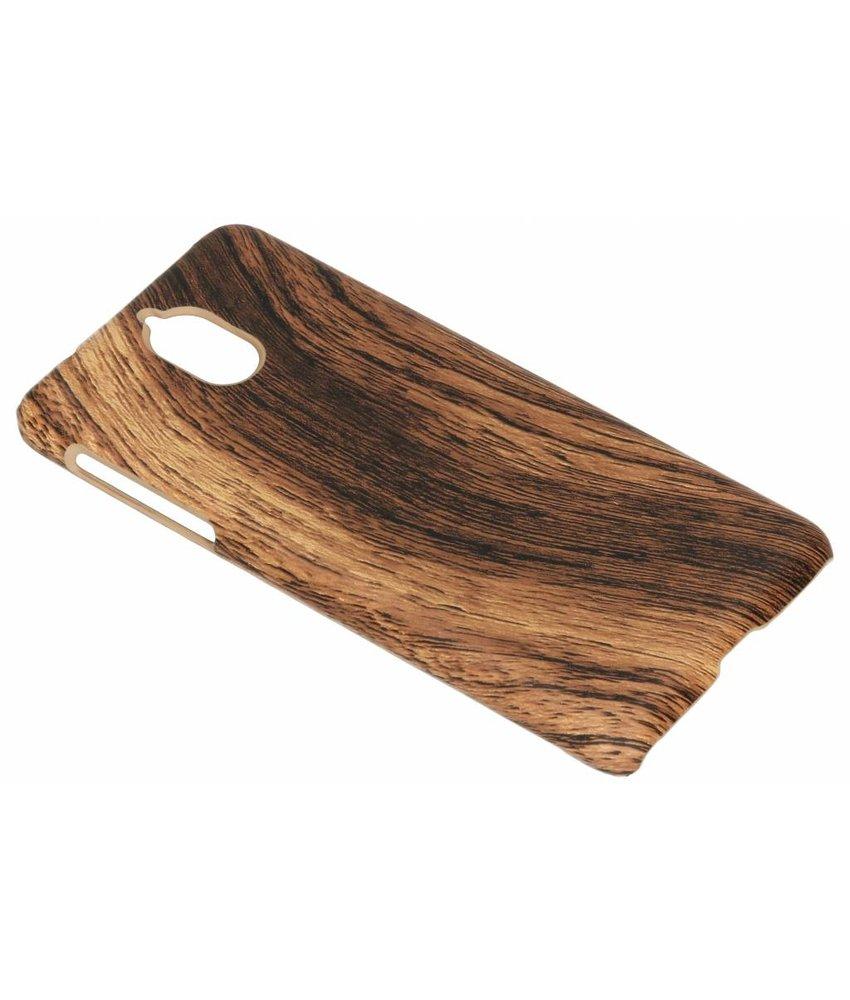 Donkerbruin hout design hardcase hoesje Nokia 3 (2018)
