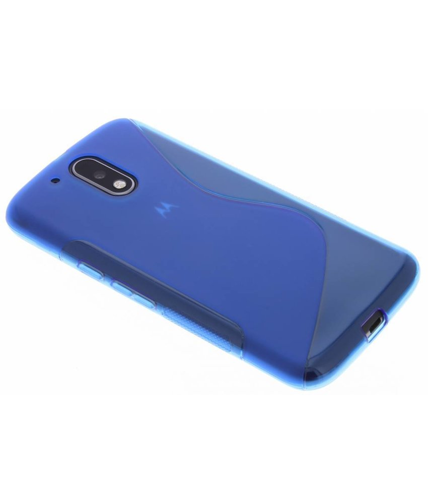 Blauw S-Line TPU hoesje Motorola Moto G4 (Plus)