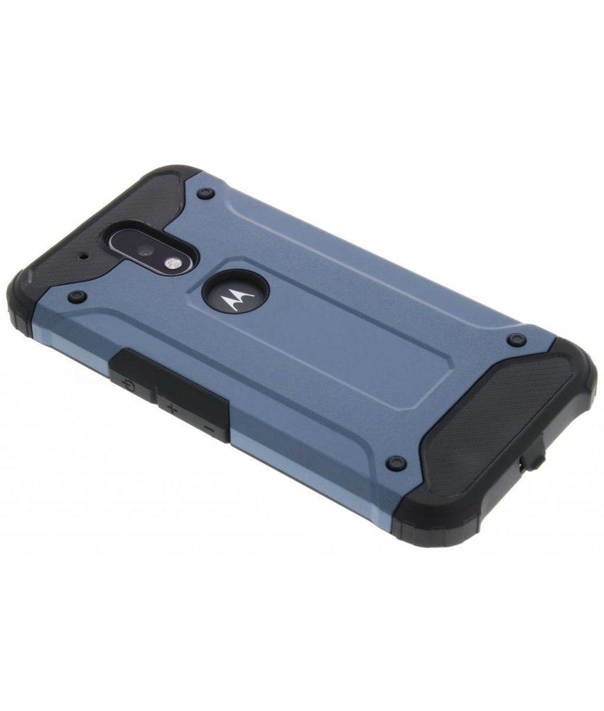 Donkerblauw rugged Xtreme Case Motorola Moto G4 (Plus)