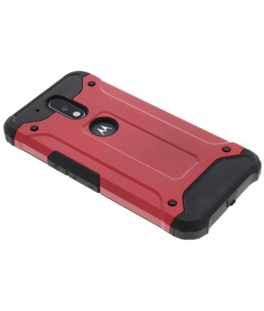 Rood rugged Xtreme Case Motorola Moto G4 (Plus)