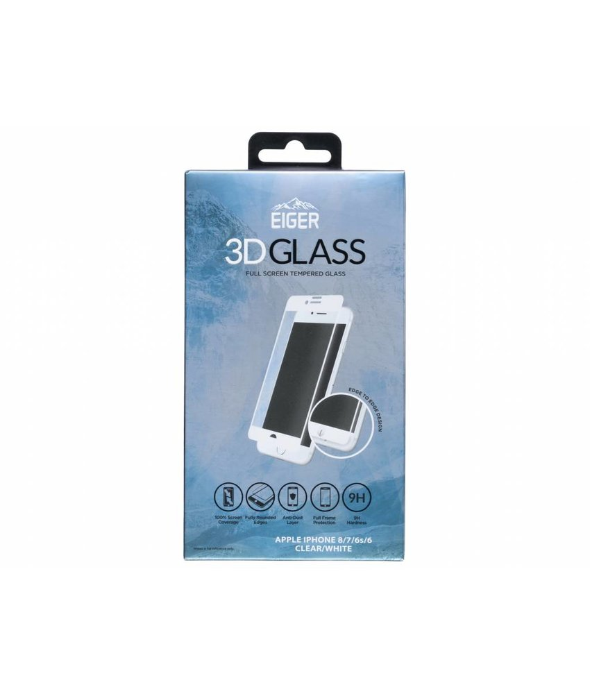 Eiger 3D Tempered Glass Screenprotector iPhone 8 / 7 / 6s / 6
