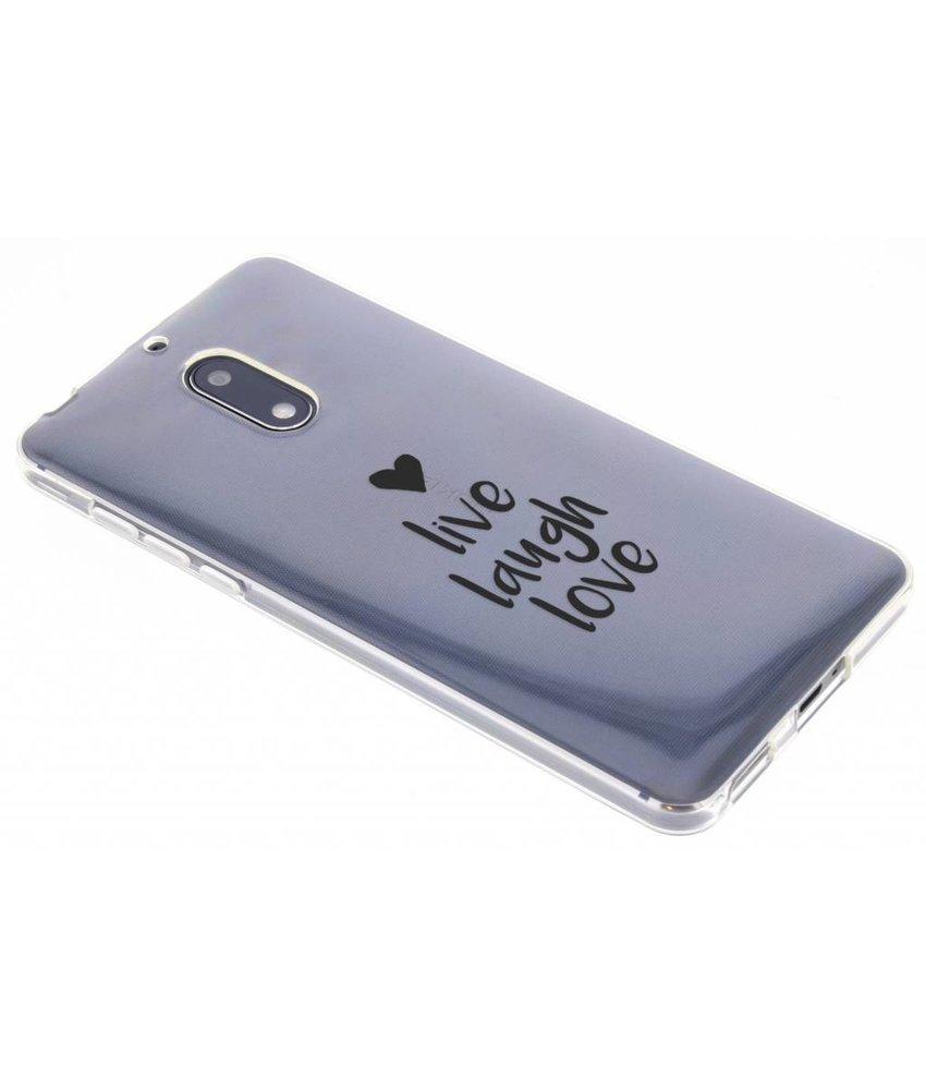 Quote design TPU hoesje Nokia 6