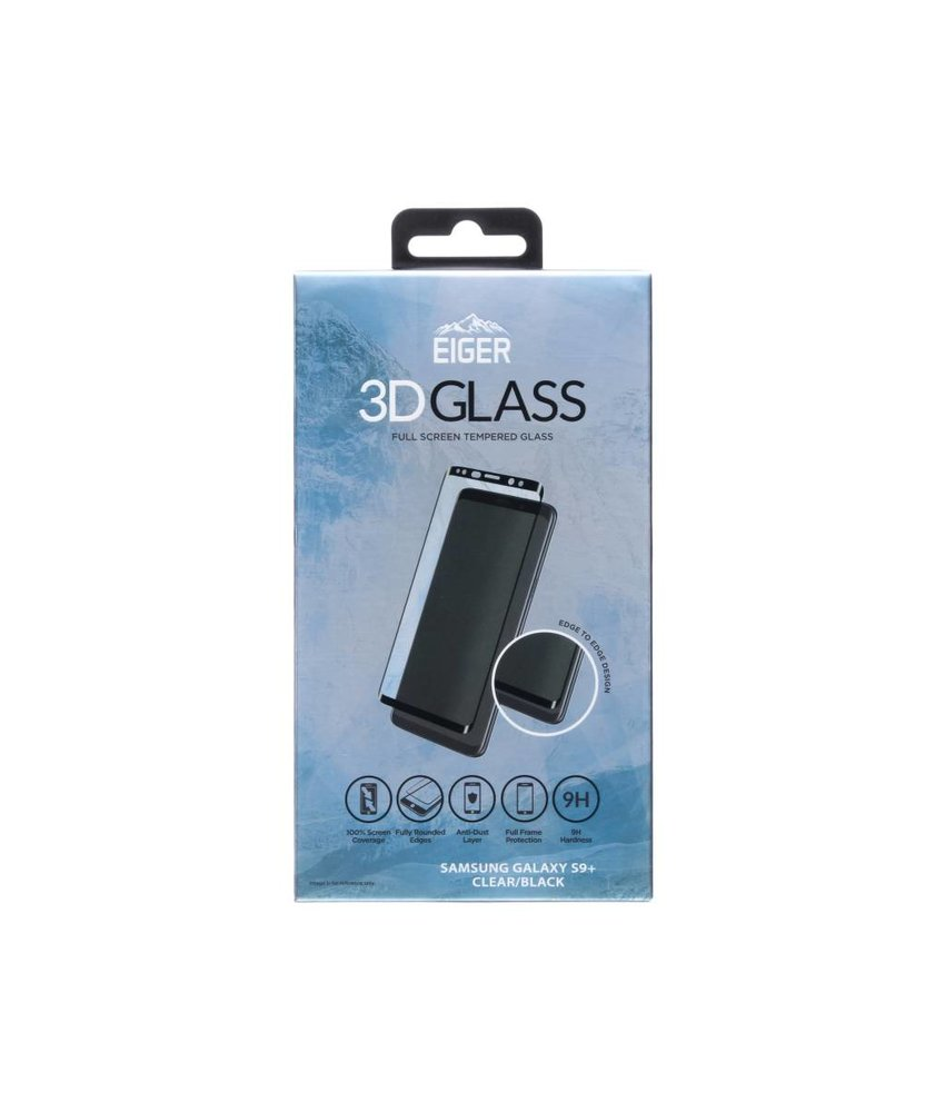 Eiger 3D Tempered Glass Screenprotector Samsung Galaxy S9 Plus