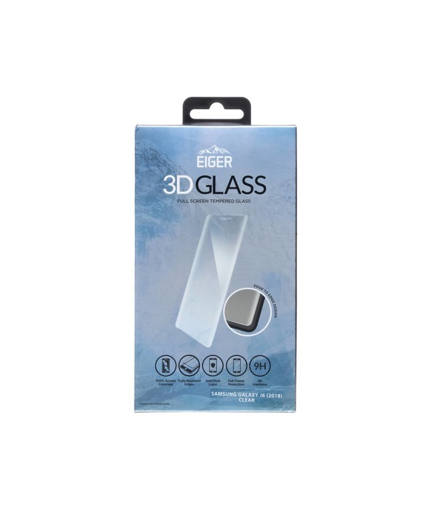 Eiger 3D Tempered Glass Screenprotector Samsung Galaxy J6