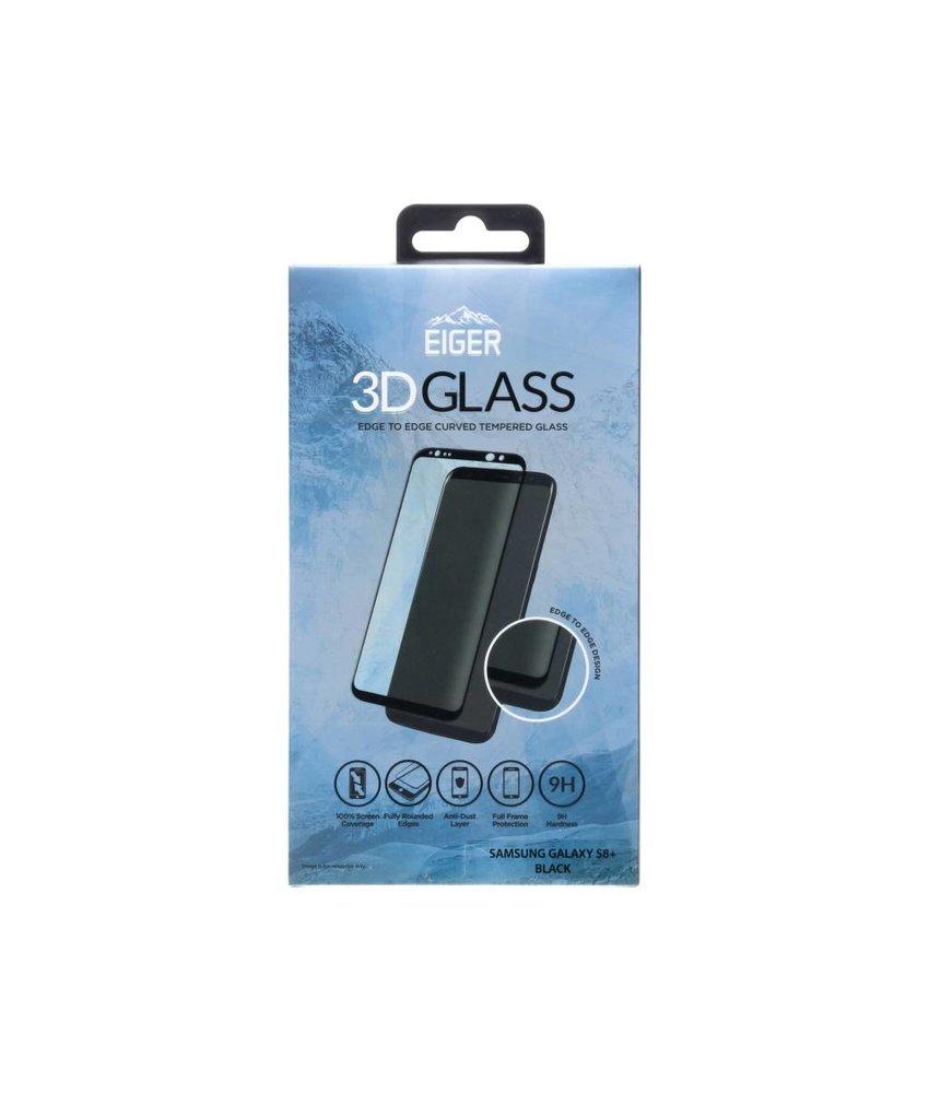 Eiger Zwart Tempered Glass Screenprotector Samsung Galaxy S8 Plus