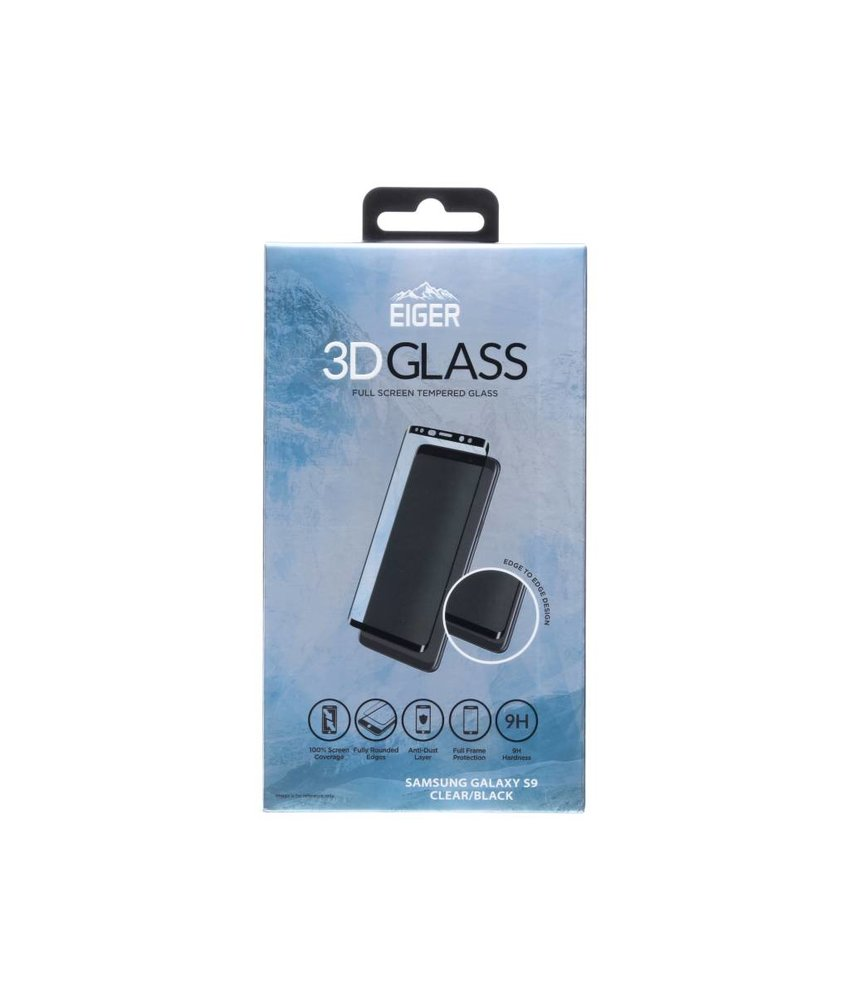 Eiger 3D Tempered Glass Screenprotector Samsung Galaxy S9