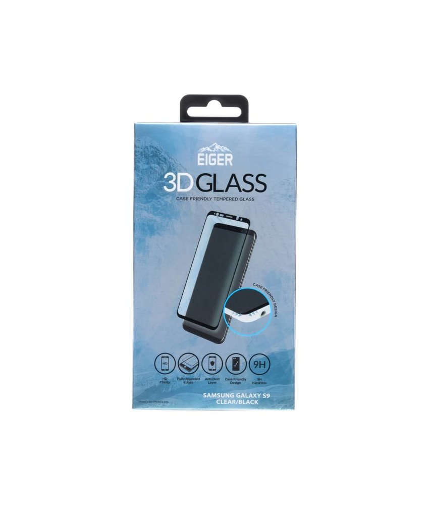 Eiger Edge to Edge Glass Screenprotector Samsung Galaxy S9