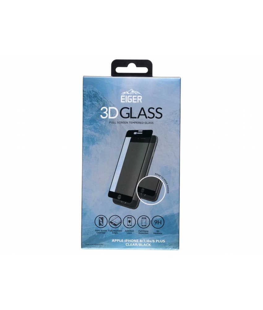 Eiger 3D Glass Screenprotector iPhone 8 Plus / 7 Plus / 6(s) Plus