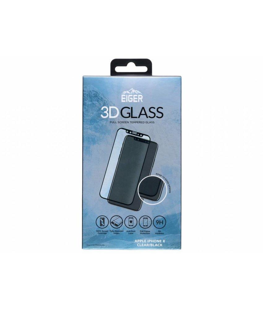Eiger Zwart Edge to Edge Tempered Glass Screenprotector iPhone Xs / X