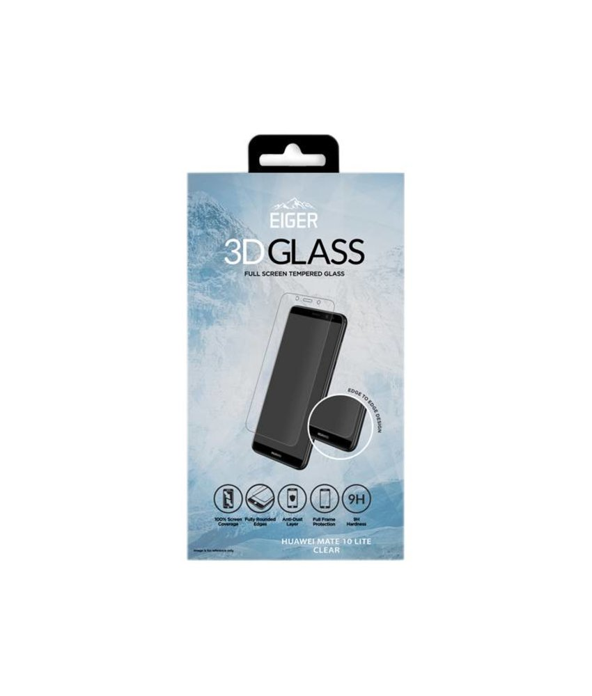 Eiger 3D Tempered Glass Screenprotector Huawei Mate 10 Lite