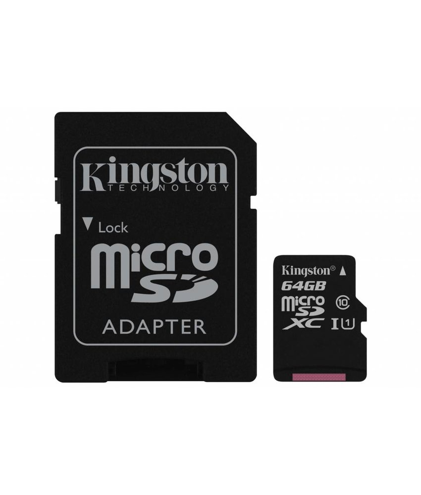 Kingston 64GB microSDHC 1 geheugenkaart klasse 10 + adapter