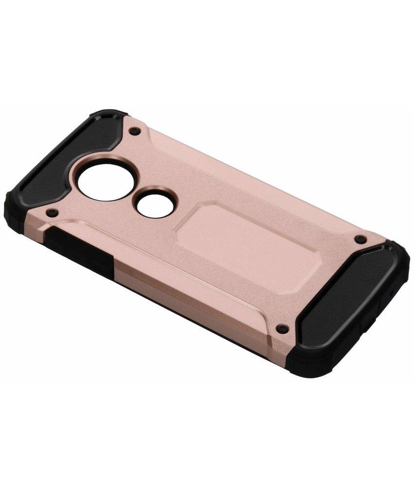 Rosé Goud Rugged Xtreme Case Motorola Moto E5 / G6 Play
