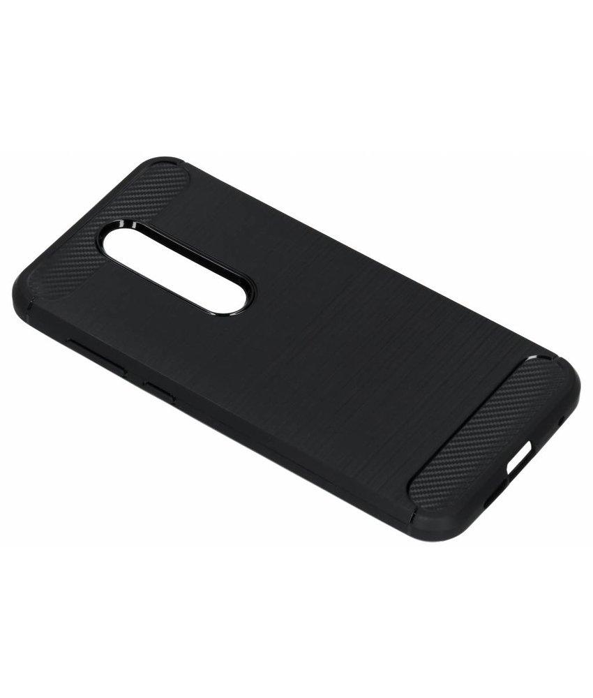 Zwart Brushed TPU case Nokia 6.1 Plus