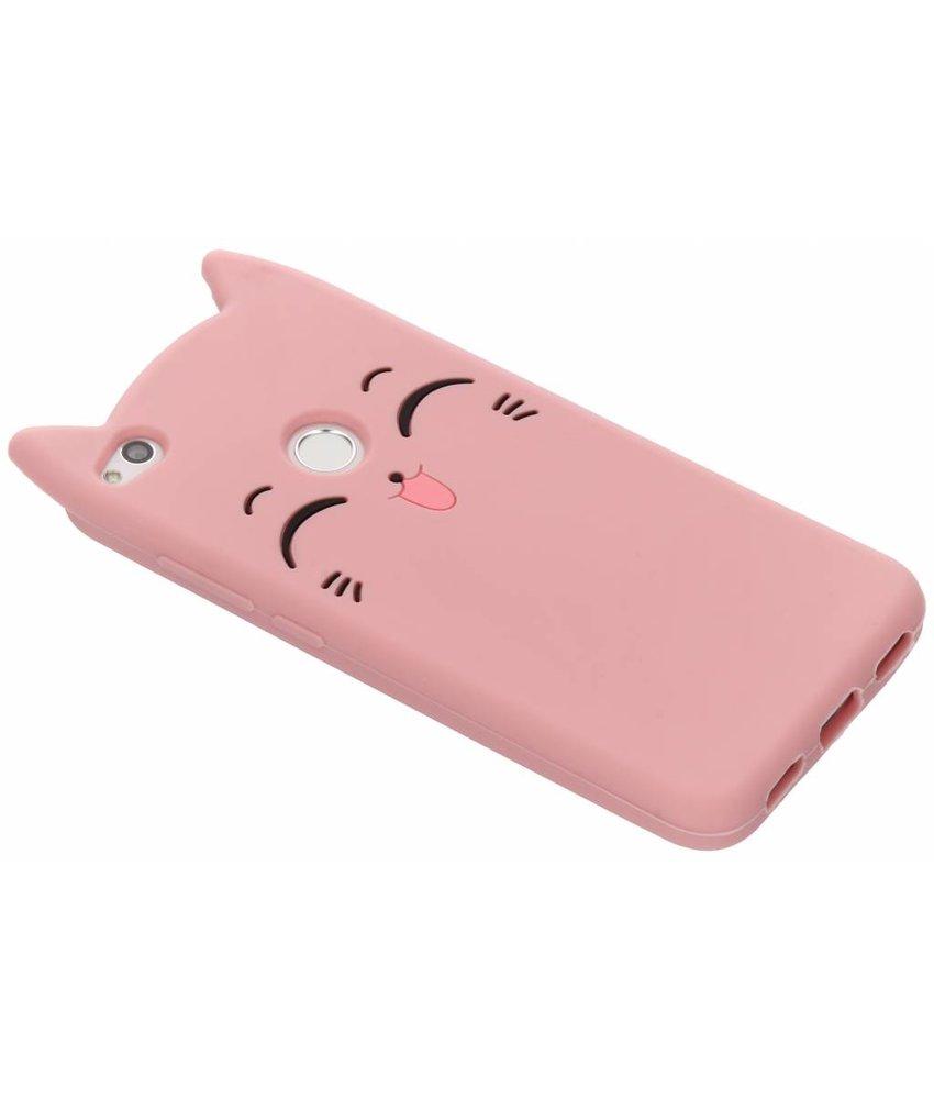 Roze kitten siliconen hoesje Huawei P8 / P9 Lite (2017)