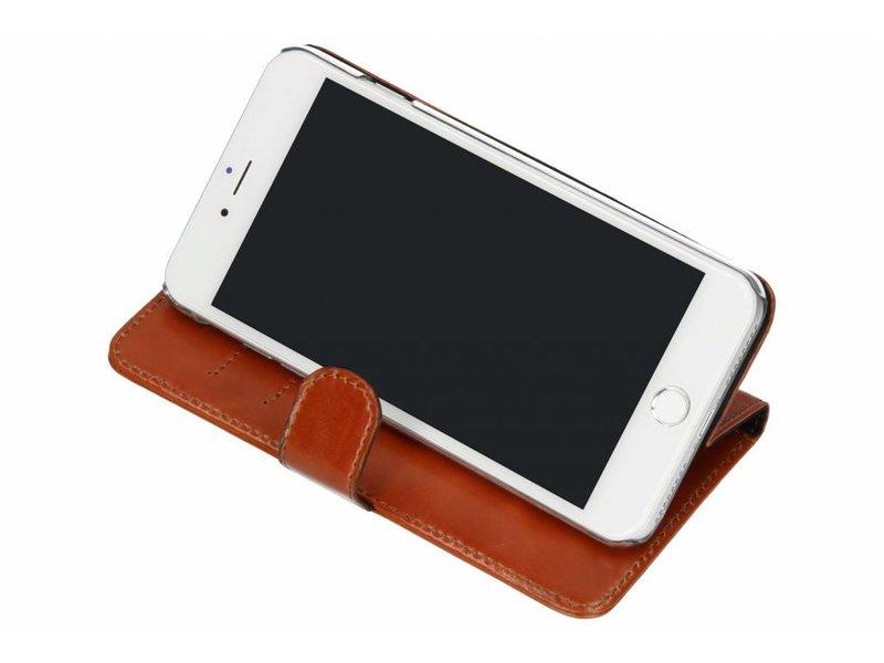 Valenta Classic Luxe Booktype voor iPhone 8 Plus / 7 Plus - Bruin
