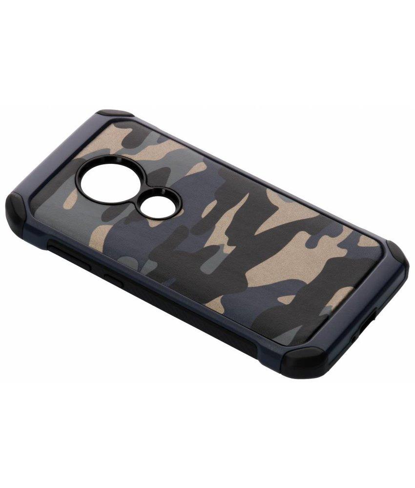 Blauw army defender hardcase hoesje Moto E5 / Moto G6 Play