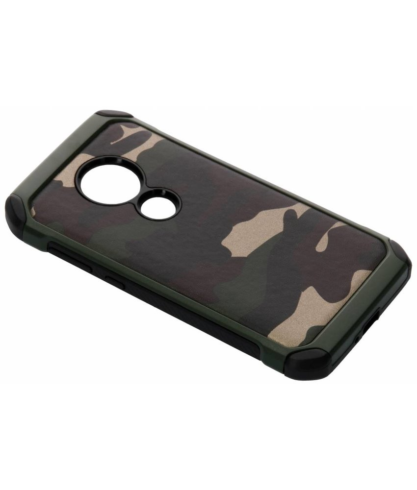 Groen army defender hardcase hoesje Moto E5 / Moto G6 Play