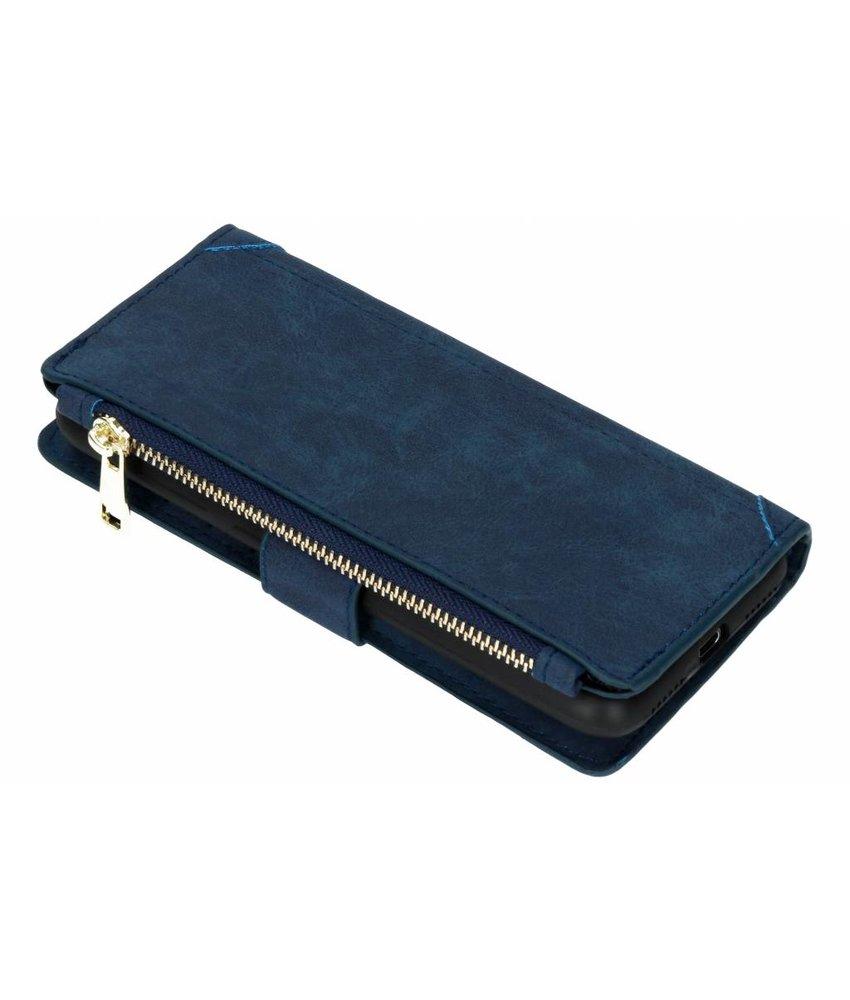 Blauw Luxe portemonnee hoes Huawei Y6 (2018)