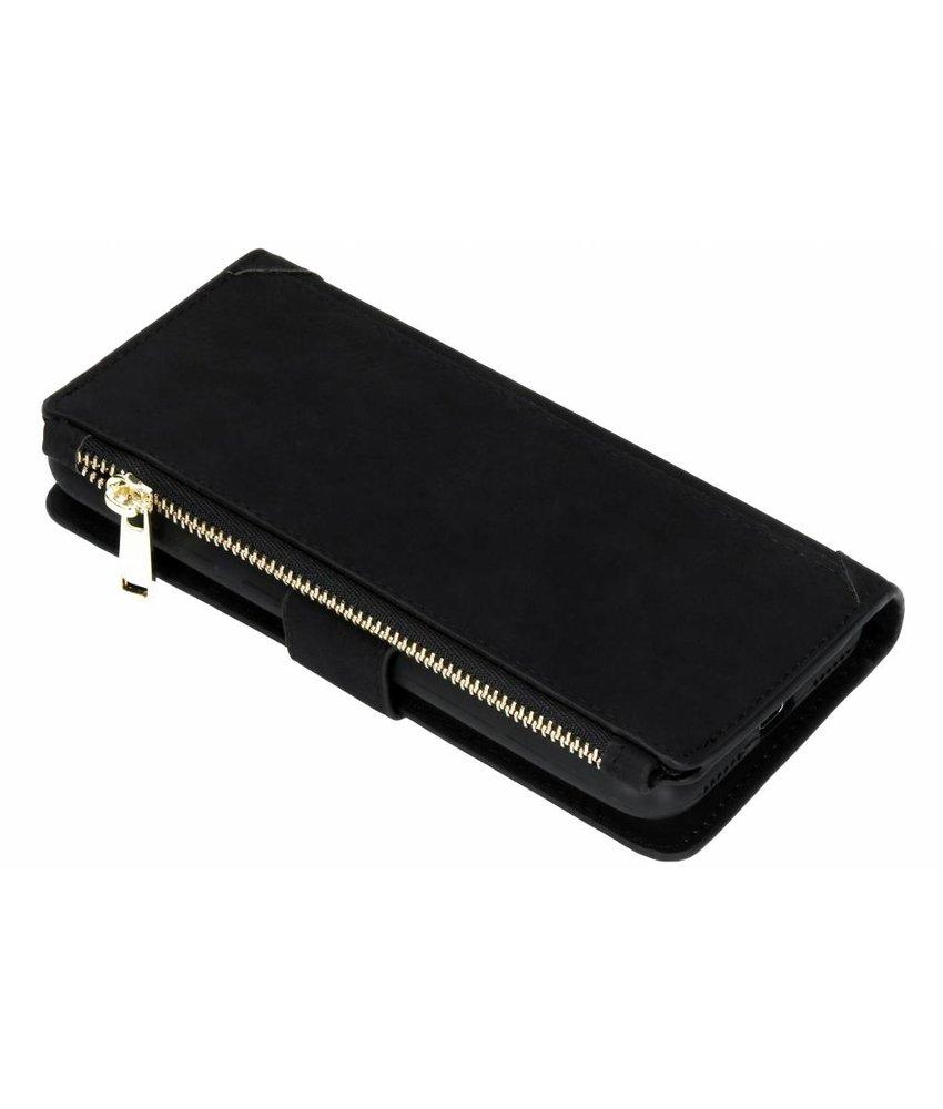 Zwart Luxe portemonnee hoes Huawei Y6 (2018)