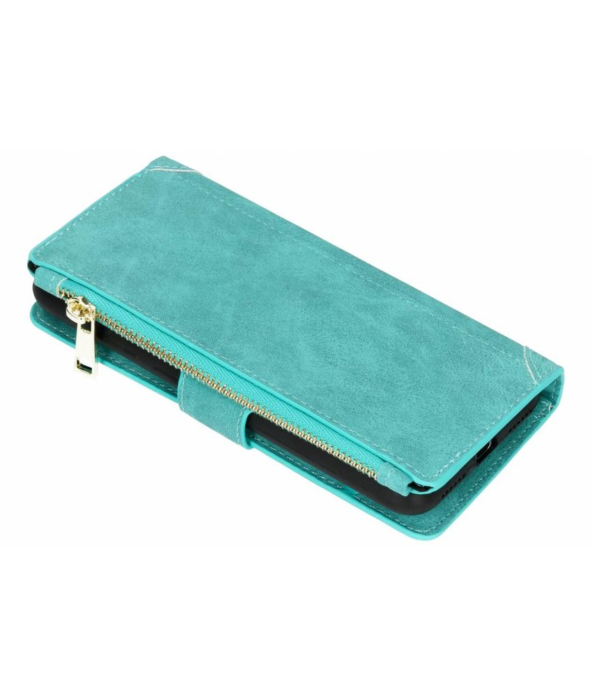 Turquoise Luxe portemonnee hoes Huawei Y6 (2018)