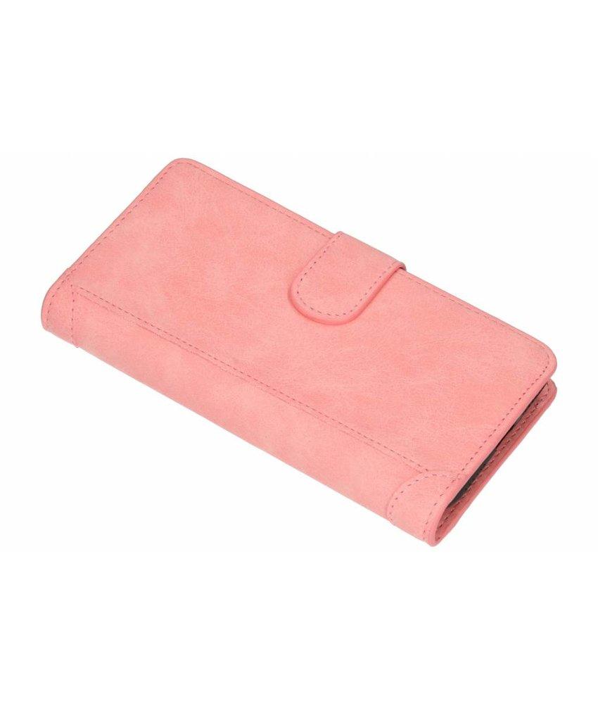 Roze Luxe portemonnee hoes Huawei Y6 (2018)