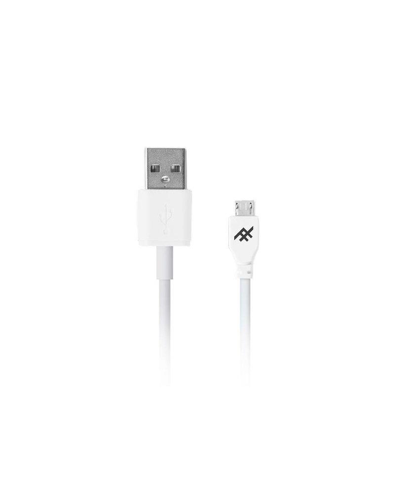 iFrogz Wit Unique Sync™ Micro-USB naar USB kabel - 3 meter