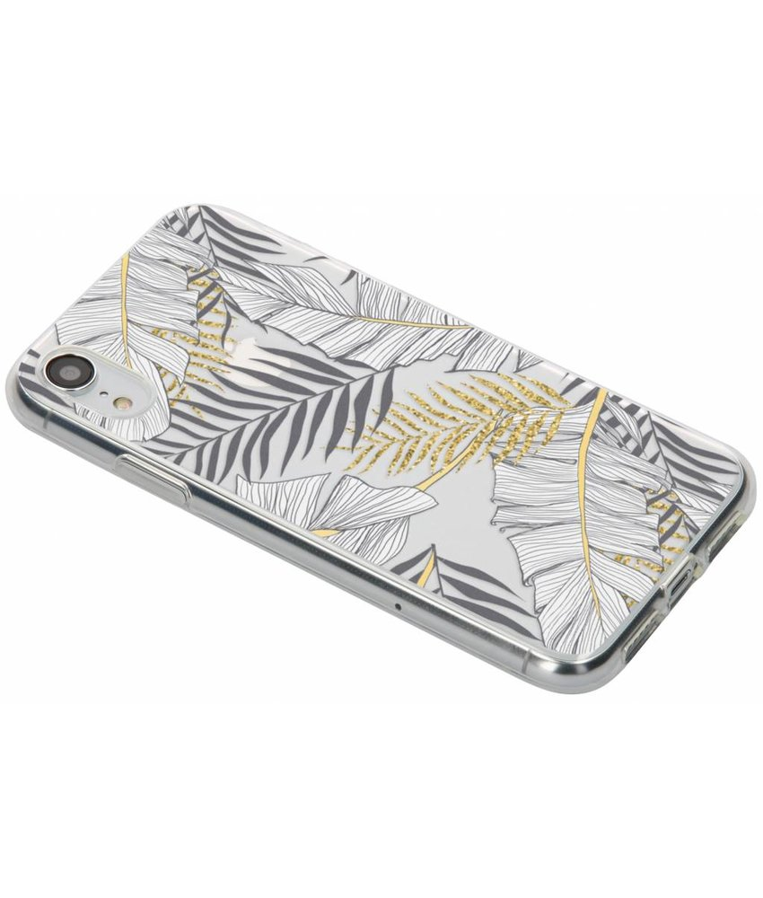 Botanic design siliconen hoesje iPhone Xr