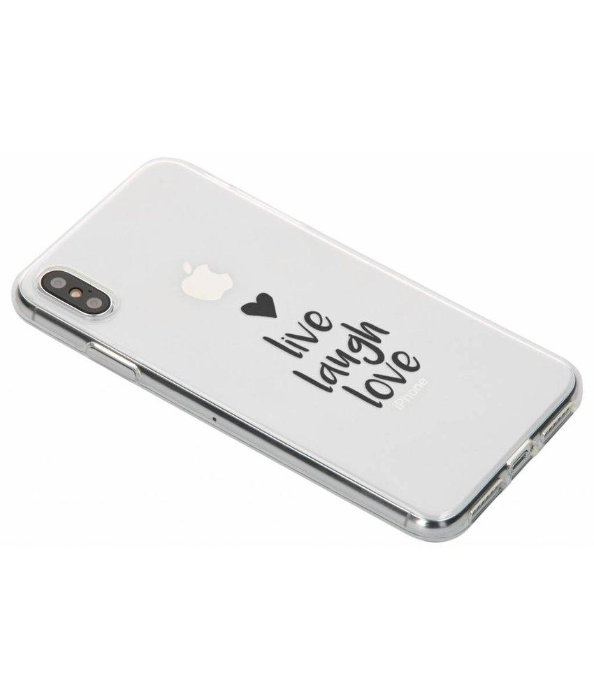 Quote design TPU hoesje iPhone Xs Max