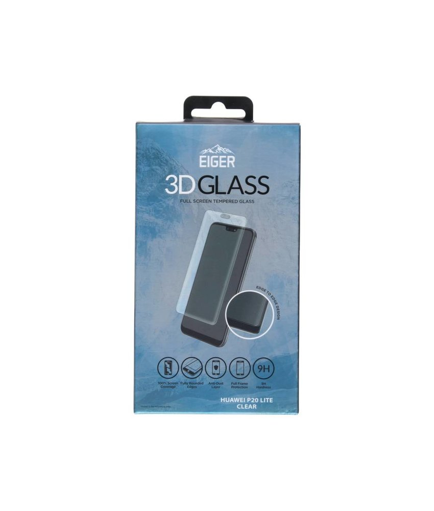 Eiger 3D Tempered Glass Screenprotector Huawei P20 Lite