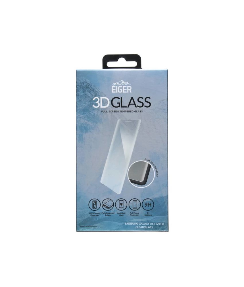 Eiger 3D Tempered Glass Screenprotector Galaxy A6 Plus (2018)