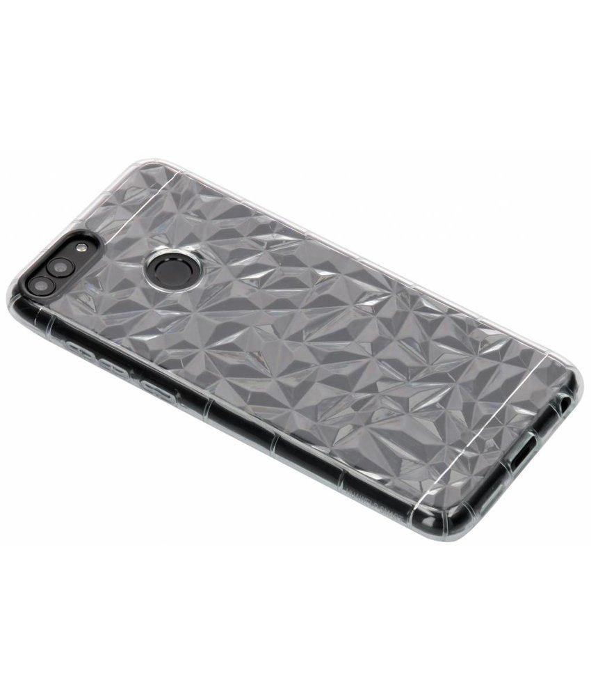 Transparant geometric style siliconen case Huawei P Smart
