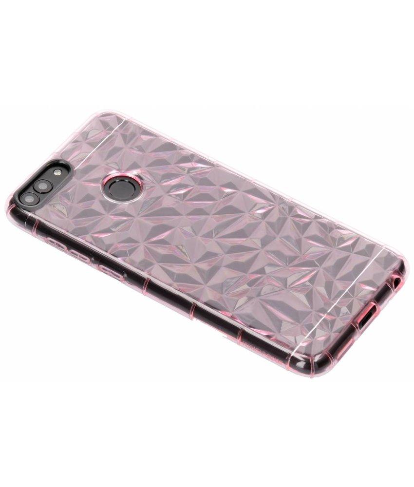 Roze geometric style siliconen case Huawei P Smart