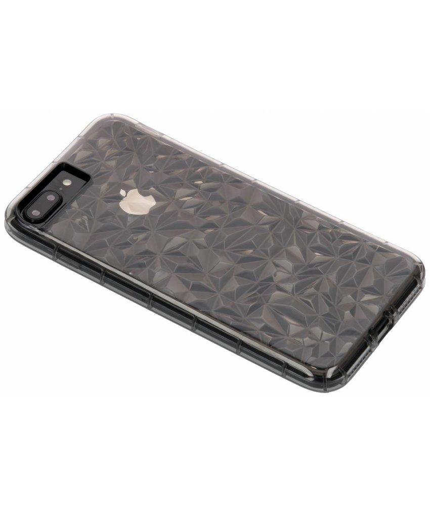 Grijs geometric style siliconen case iPhone 8 Plus / 7 Plus