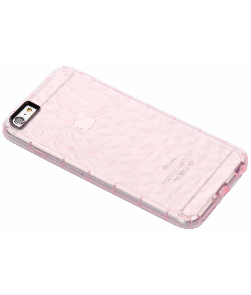 Roze geometric style siliconen case iPhone 6(s) Plus