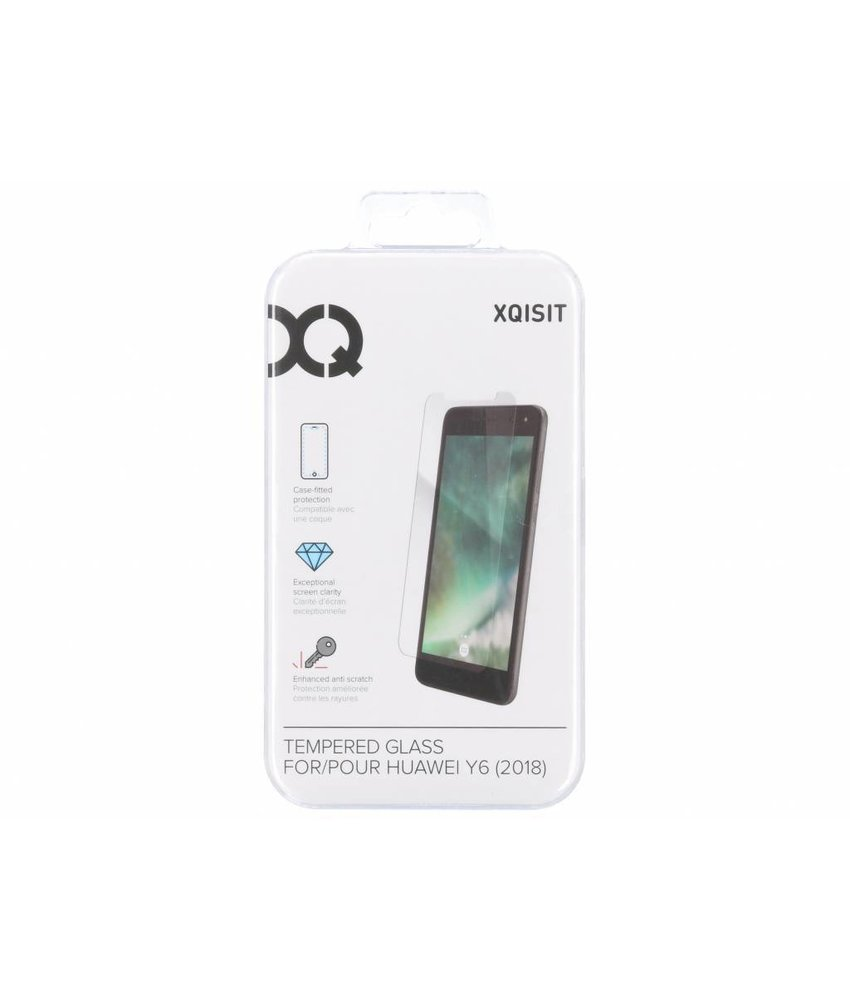 Xqisit Tempered Glass screenprotector Huawei Y6 (2018)