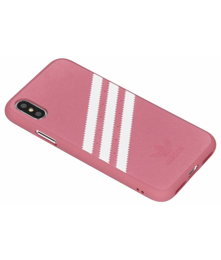 adidas Originals Roze OR Moulded Suède Case iPhone Xs / X